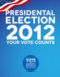 Presidental election 2012. Poster vector royalty free illustration