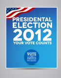 Presidental election 2012. Poster vector stock illustration