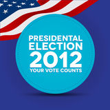 Presidental election 2012. Poster vector Royalty Free Stock Photo