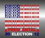 Presidental election. Illustration with flag barcode Usa and presidental election 2012 Royalty Free Stock Photos