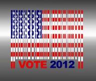 Presidental election. Illustration with flag barcode Usa and presidental election 2012 Royalty Free Stock Image