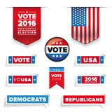 Presidental election set  Stock Images