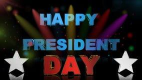 Presidentdag, animering arkivfilmer