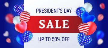 Presidentdag Sale stock illustrationer