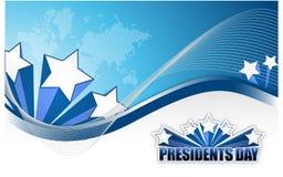 Presidentdagtecken stock illustrationer