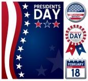 Presidentdaguppsättning stock illustrationer