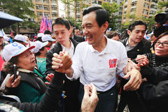 Presidente 2012 de Taiwán Election Imagen de archivo libre de regalías