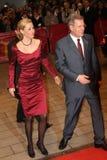 Presidente alemán Christian Wulff y su apuesta de la esposa Imagen de archivo