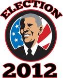 Presidente americano Barack Obama Flag stock de ilustración