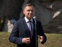 Presidente Andrzej Duda Fotografía de archivo libre de regalías
