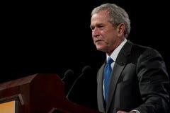 Presidente anterior George W. Bush Foto de archivo