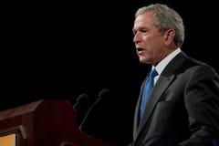 Presidente anterior George W. Bush fotografía de archivo libre de regalías