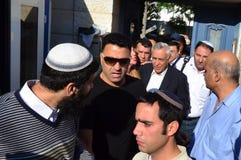 Presidente anterior Katsav de Israel na maneira à prisão Fotografia de Stock