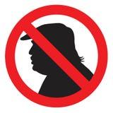 Presidente anti Donald Trump Silhouette Sign Ejemplo del icono del vector Foto de archivo