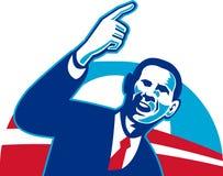 Presidente Barack Obama ilustração royalty free