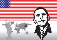 Presidente Barack Obama Fotos de archivo libres de regalías
