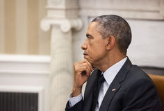 Presidente Barack Obama degli Stati Uniti Immagine Stock