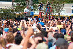 Presidente Barack Obama el 8 de septiembre de 2012 la Florida Imagenes de archivo