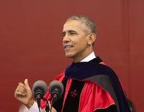 Presidente Barack Obama habla en el 250o comienzo de la universidad de Rutgers del aniversario Fotografía de archivo