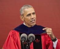 Presidente Barack Obama habla en el 250o comienzo de la universidad de Rutgers del aniversario Imagenes de archivo