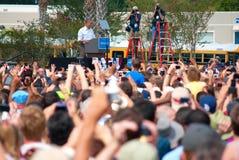 Presidente Barack Obama setembro 8, 2012 Florida Imagens de Stock