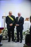 Presidente brasileiro Michael Temer imagem de stock