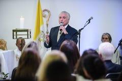 Presidente brasileiro Michael Temer fotos de stock