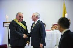 Presidente brasileiro Michael Temer fotografia de stock