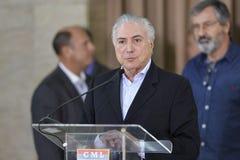 Presidente da república Michel Temer foto de stock