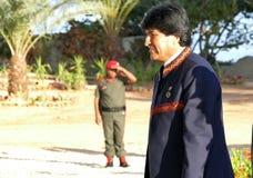 Presidente de Bolivia Evo Morales Imagen de archivo libre de regalías