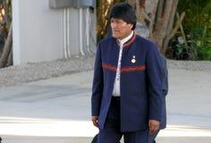 Presidente de Bolivia Evo Morales Fotos de archivo