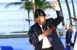 Presidente de Bolivia Evo Morales Foto de archivo libre de regalías