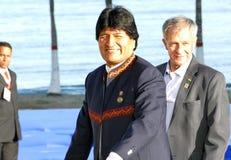 Presidente de Bolivia Evo Morales Imágenes de archivo libres de regalías