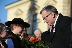 Presidente de Bronislaw Komorowski de Polnad Foto de archivo libre de regalías