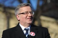 Presidente de Bronislaw Komorowski de Polnad Imagenes de archivo