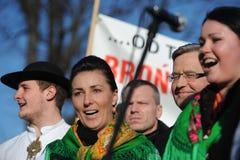 Presidente de Bronislaw Komorowski de Polnad Fotos de archivo