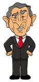 Presidente de George Bush ilustração royalty free