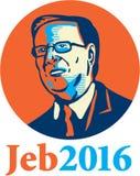 Presidente 2016 de Jeb Republicano Fotos de Stock