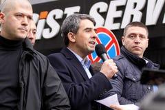 Presidente de la República de Bulgaria Rosen Plevneliev imagen de archivo libre de regalías