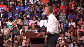 Presidente de la reunión de los E.E.U.U. Barack Obama con los estudiantes de la Florida almacen de video