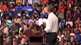 Presidente de la reunión de los E.E.U.U. Barack Obama con los estudiantes de la Florida almacen de metraje de vídeo