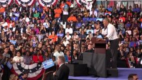 Presidente de la reunión de los E.E.U.U. Barack Obama con los estudiantes de la Florida metrajes
