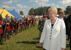 Presidente de Lituania Dalia Grybauskaite fotografía de archivo libre de regalías