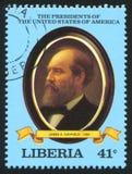 Presidente de los Estados Unidos James A garfield Imágenes de archivo libres de regalías