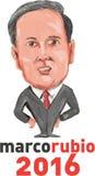 Presidente 2016 de Marco Rubio Caricatura Imagens de Stock Royalty Free