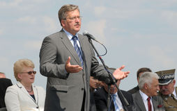Presidente de Poland Bronislaw Komorowski Foto de Stock Royalty Free