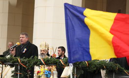 Presidente de Romênia - Iohannis Foto de Stock