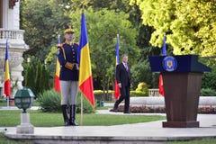 Presidente de Rumania Klaus Iohannis Imagen de archivo libre de regalías