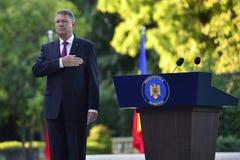 Presidente de Rumania Klaus Iohannis imagen de archivo
