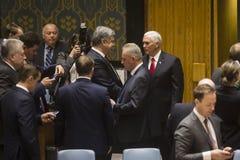 Presidente de Ucrânia Petro Poroshenko na assembleia geral do UN Imagens de Stock